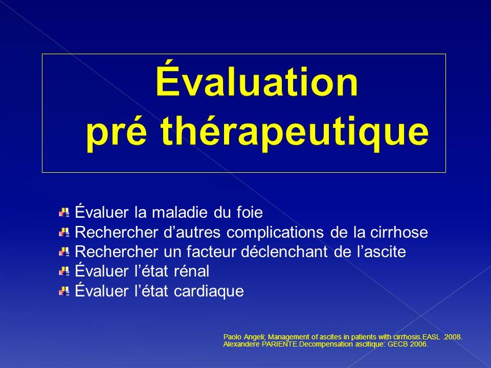 Évaluation pré thérapeutique