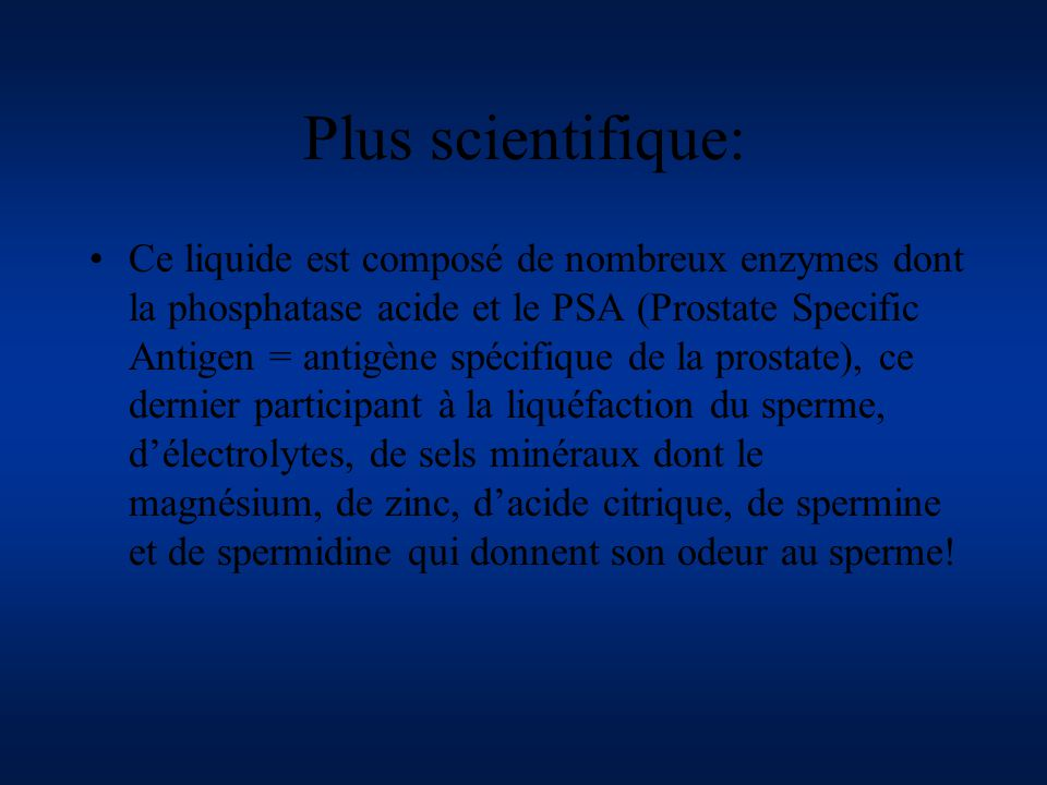 Plus scientifique: