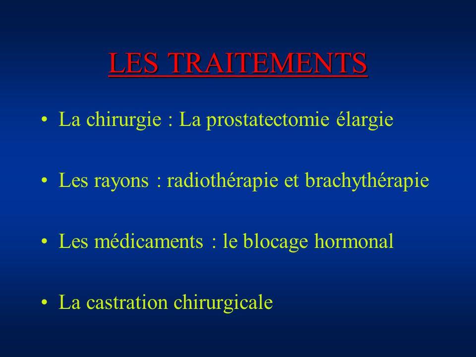 LES TRAITEMENTS La chirurgie : La prostatectomie élargie