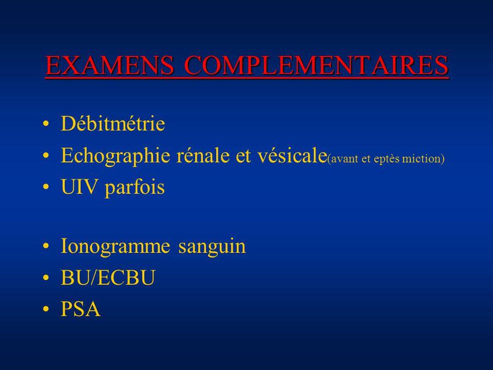 EXAMENS COMPLEMENTAIRES
