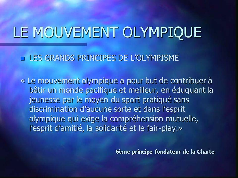 LE MOUVEMENT OLYMPIQUE