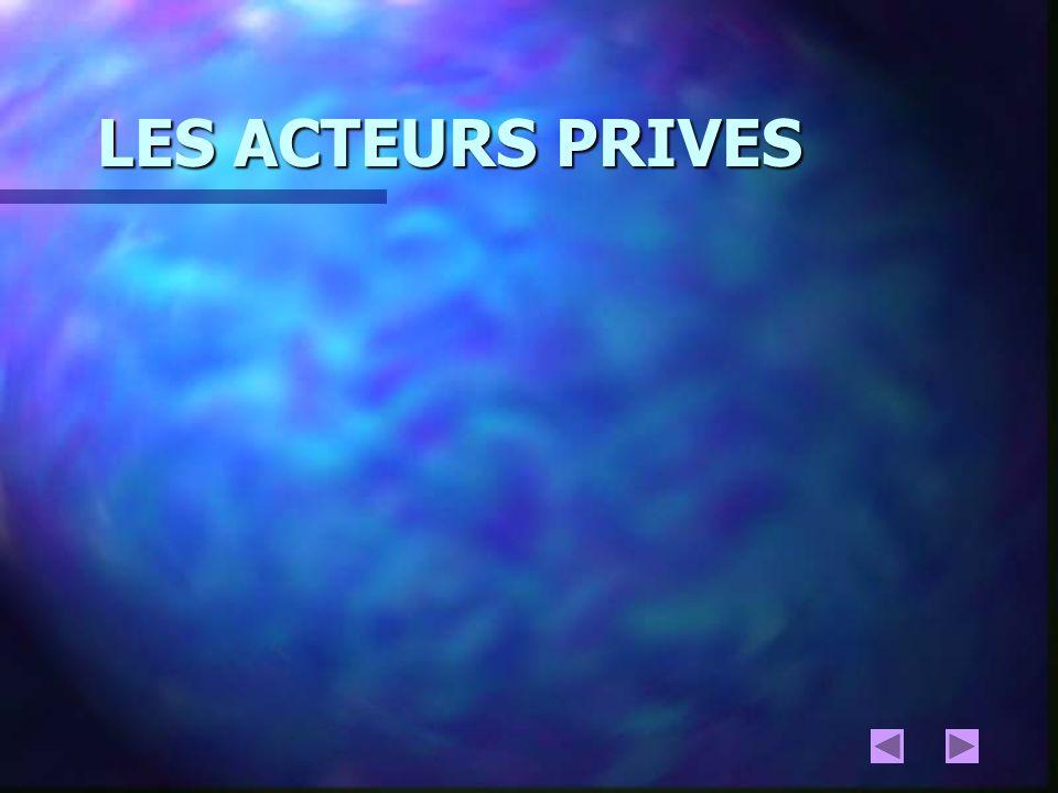 LES ACTEURS PRIVES