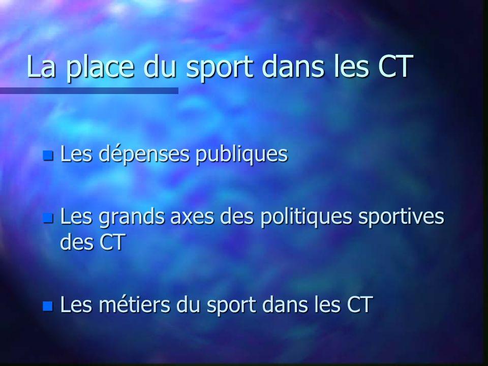 La place du sport dans les CT