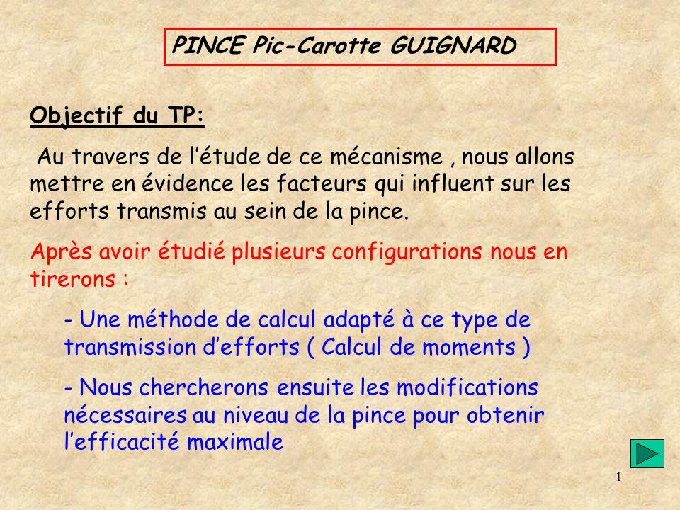 PINCE Pic-Carotte GUIGNARD