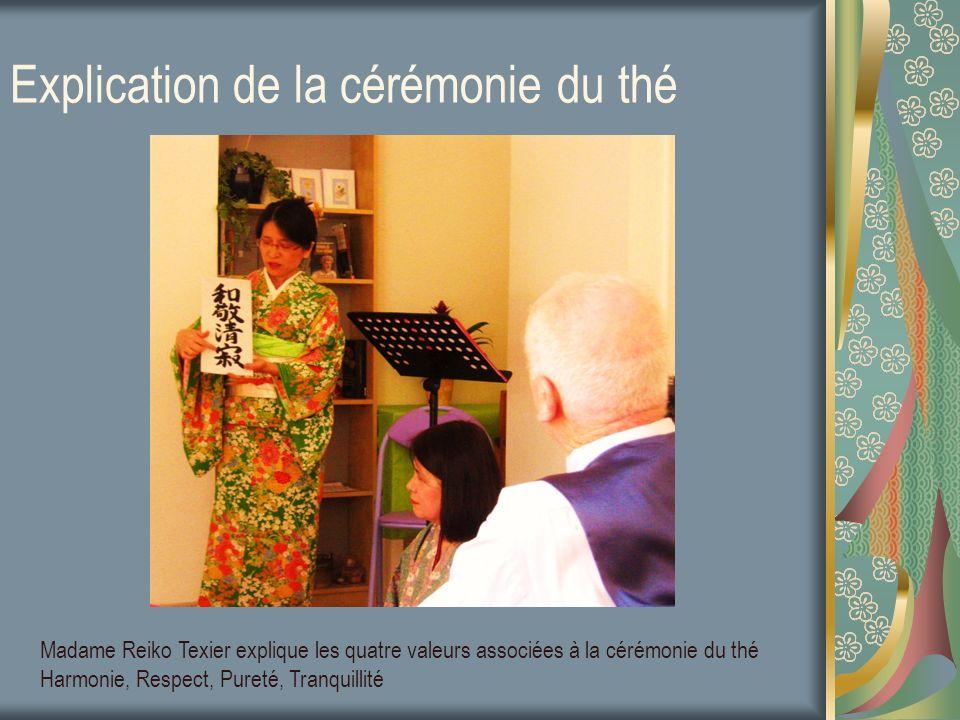 Explication de la cérémonie du thé