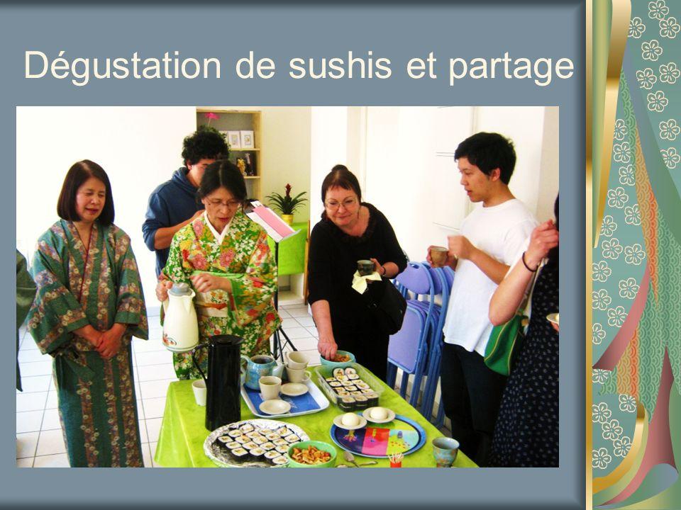Dégustation de sushis et partage