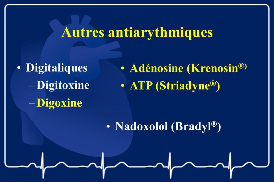 Autres antiarythmiques