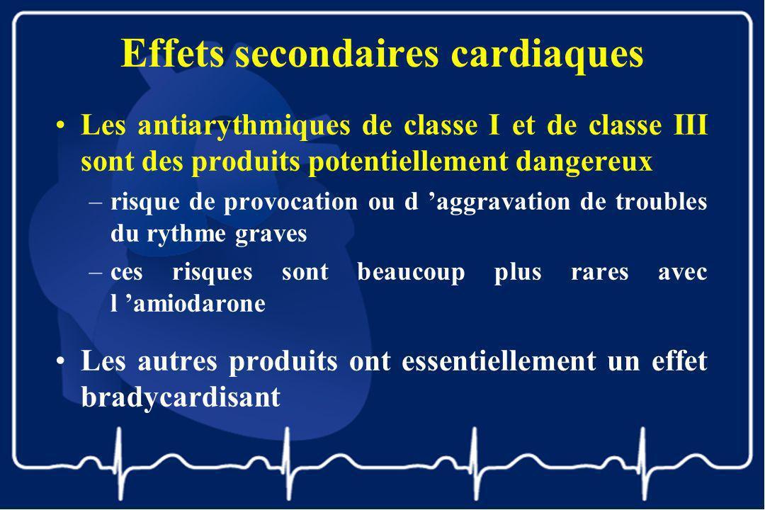 Effets secondaires cardiaques