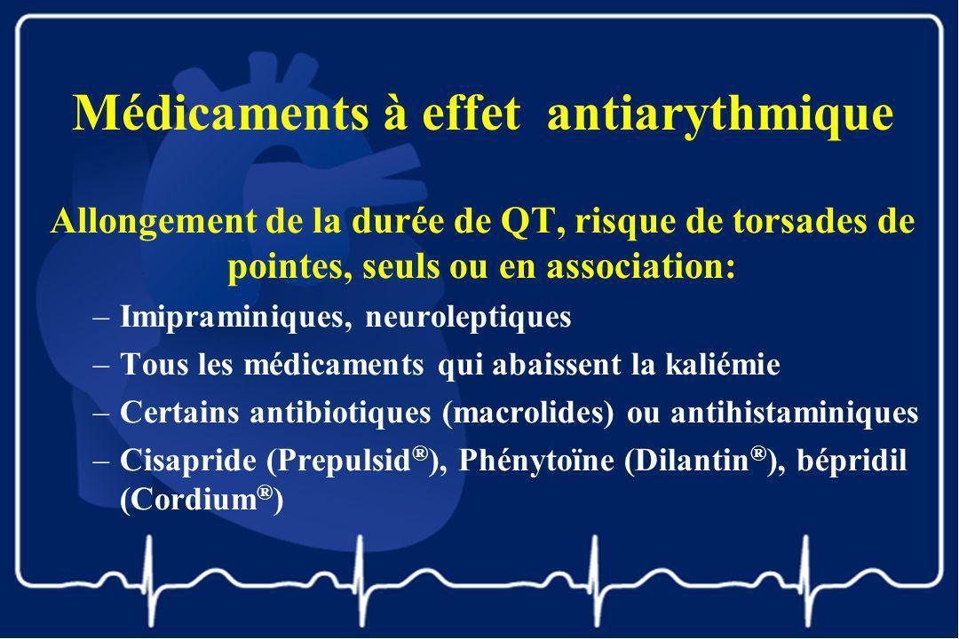 Médicaments à effet antiarythmique