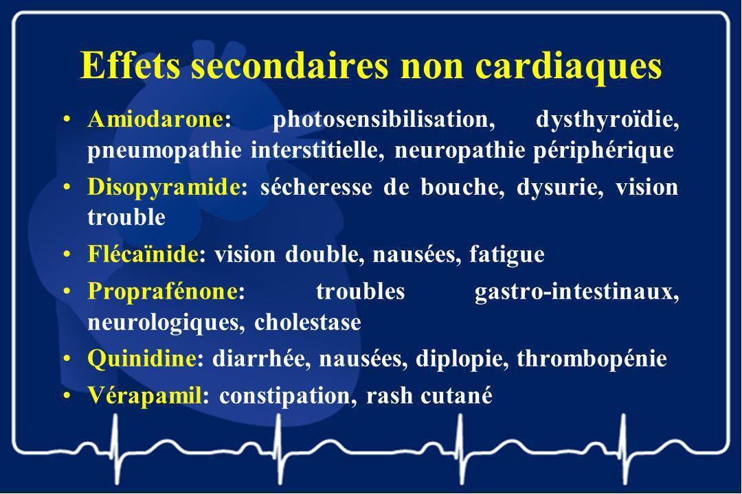 Effets secondaires non cardiaques