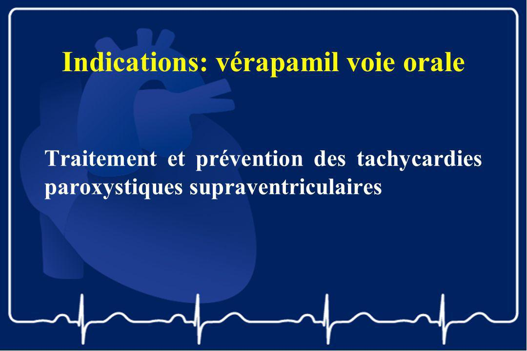 Indications: vérapamil voie orale