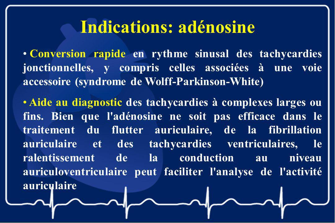 Indications: adénosine
