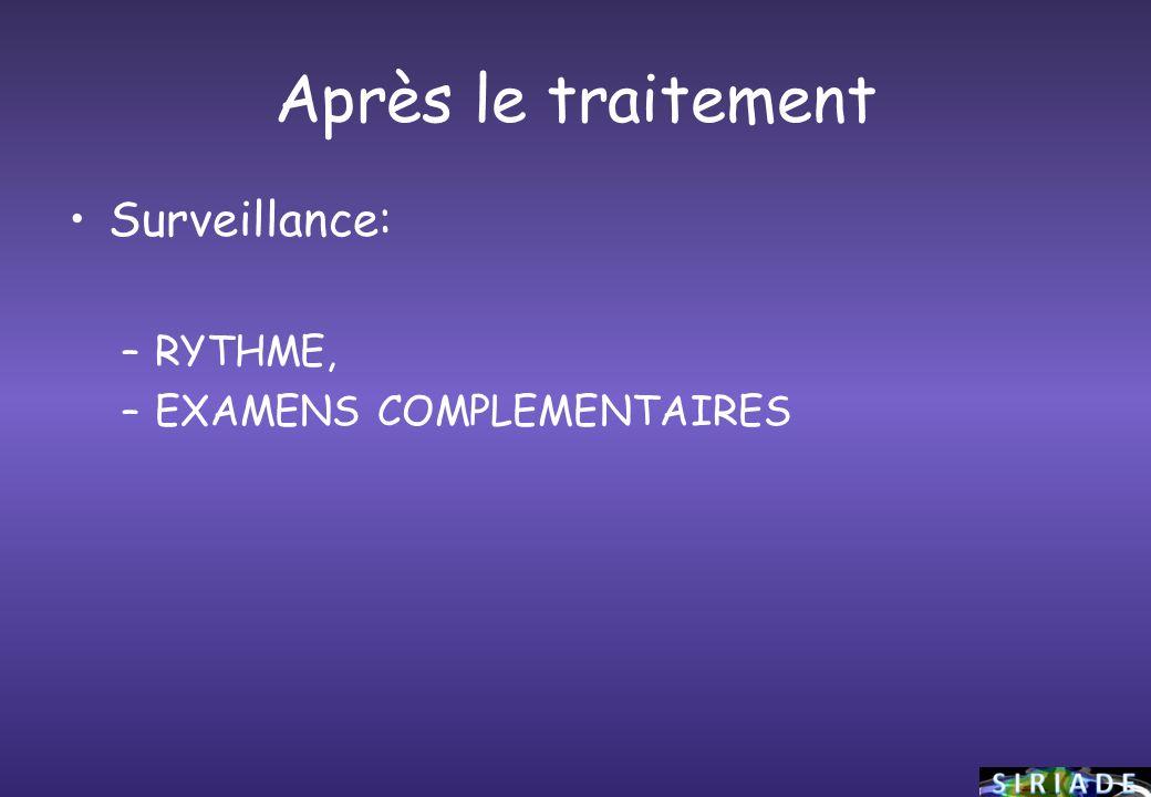 Après le traitement Surveillance: RYTHME, EXAMENS COMPLEMENTAIRES