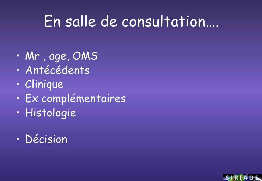 En salle de consultation….