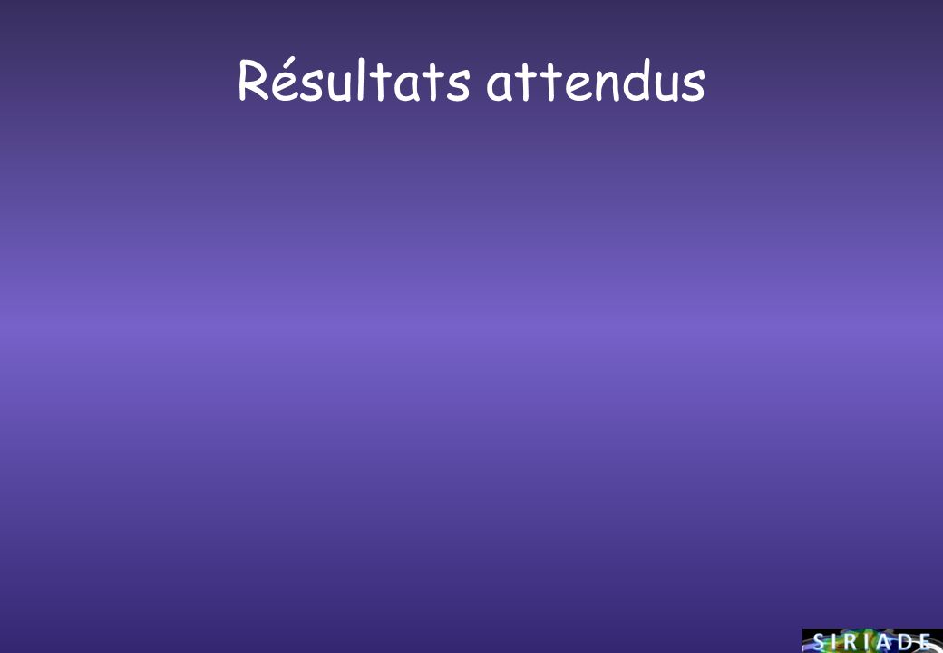 Résultats attendus