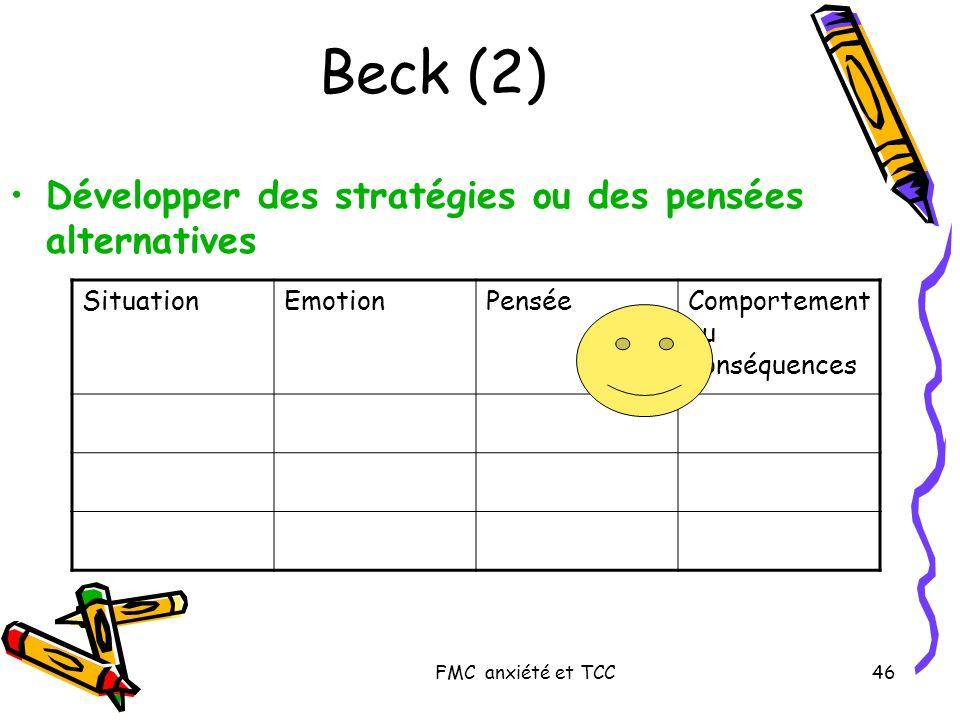 Beck (2) Développer des stratégies ou des pensées alternatives