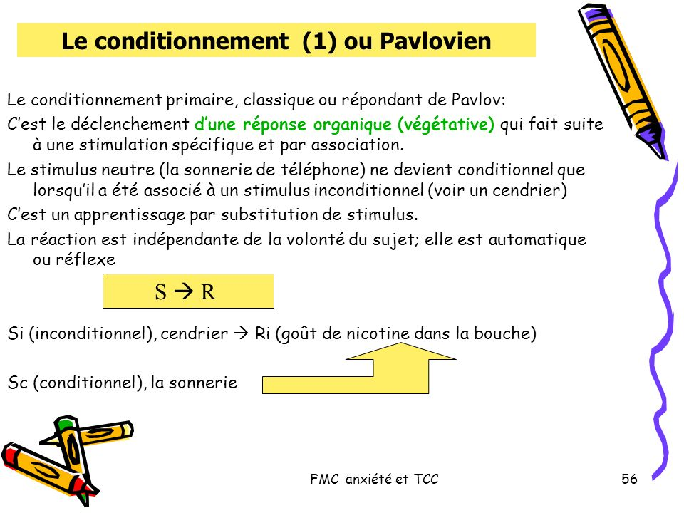 Le conditionnement (1) ou Pavlovien