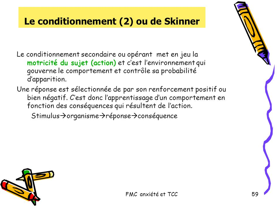 Le conditionnement (2) ou de Skinner