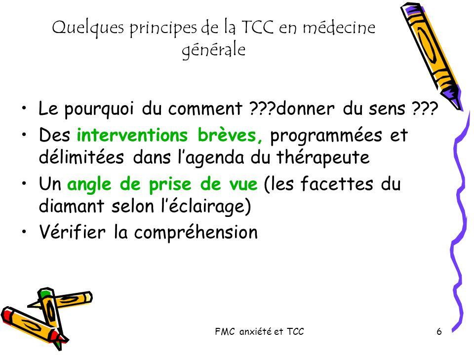 Quelques principes de la TCC en médecine générale