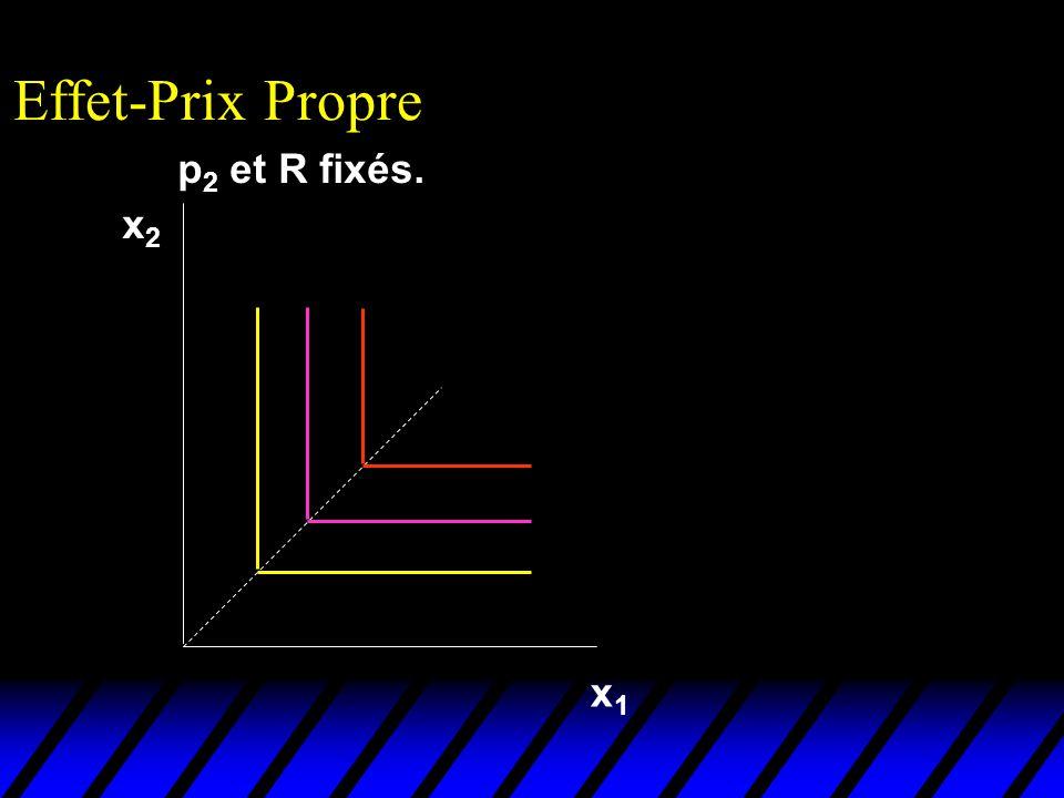 Effet-Prix Propre p2 et R fixés. x2 x1