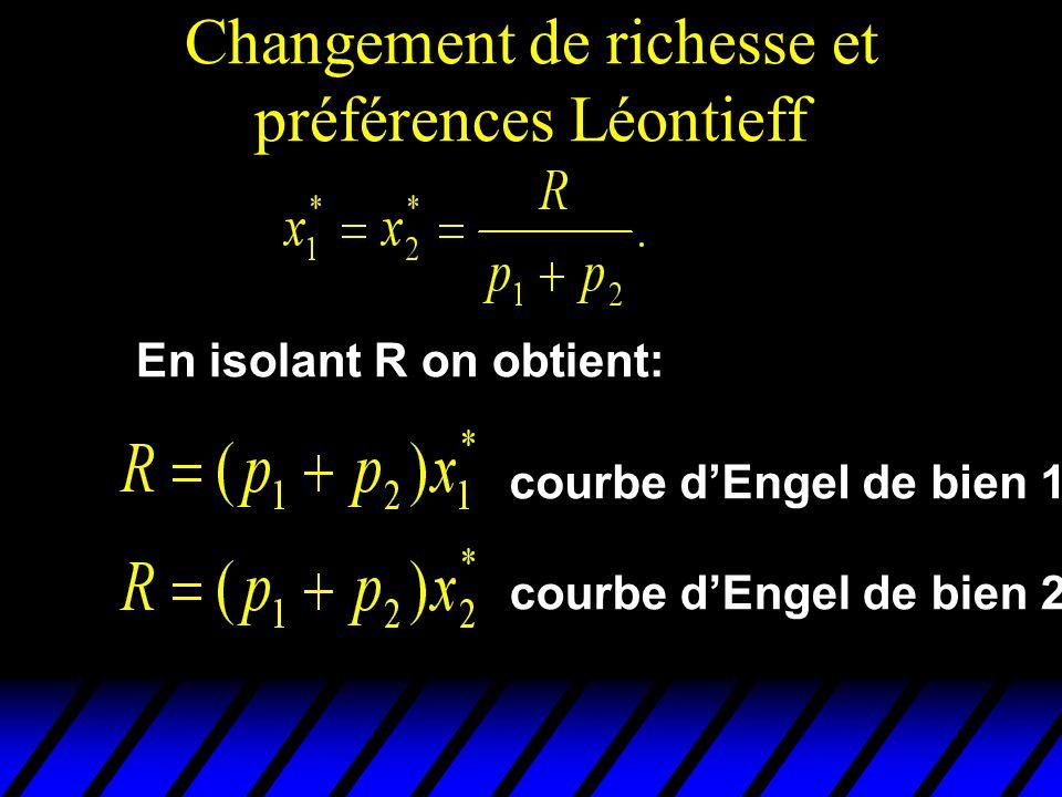 Changement de richesse et préférences Léontieff