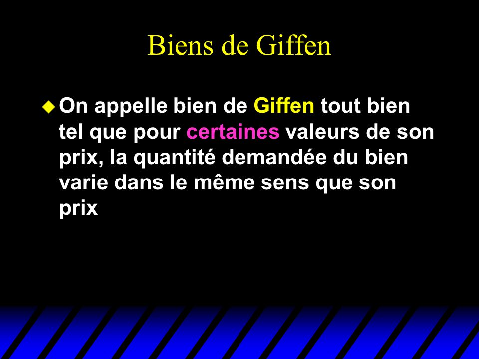 Biens de Giffen