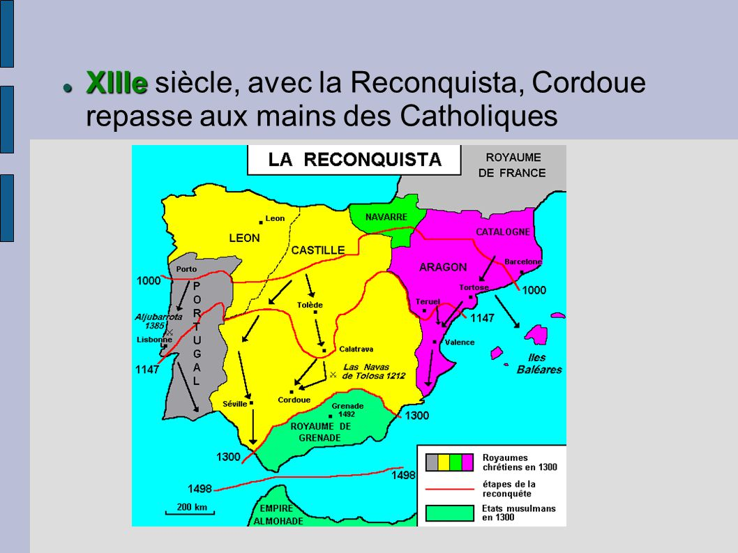 XIIIe siècle, avec la Reconquista, Cordoue repasse aux mains des Catholiques