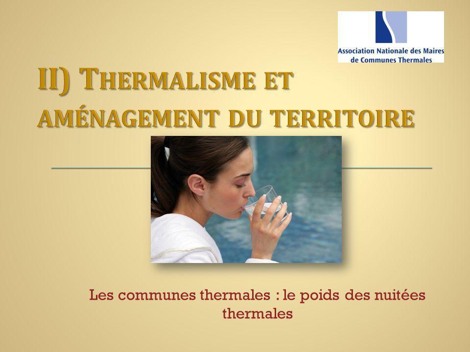 II) Thermalisme et aménagement du territoire