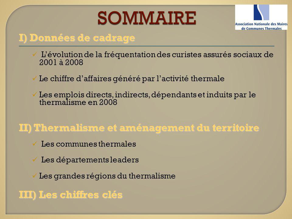 SOMMAIRE I) Données de cadrage