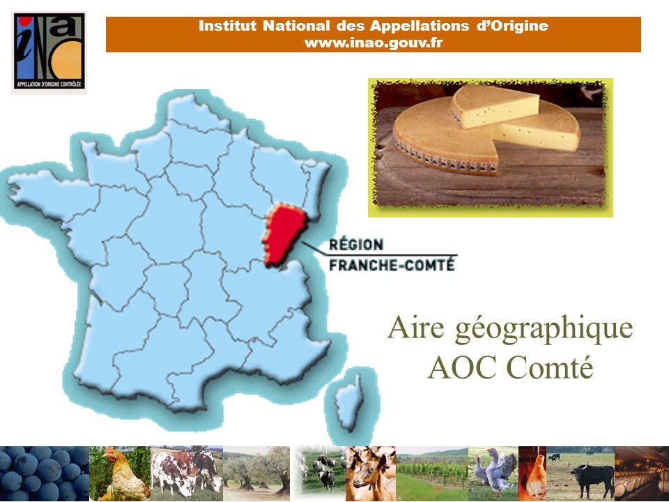 Aire géographique AOC Comté