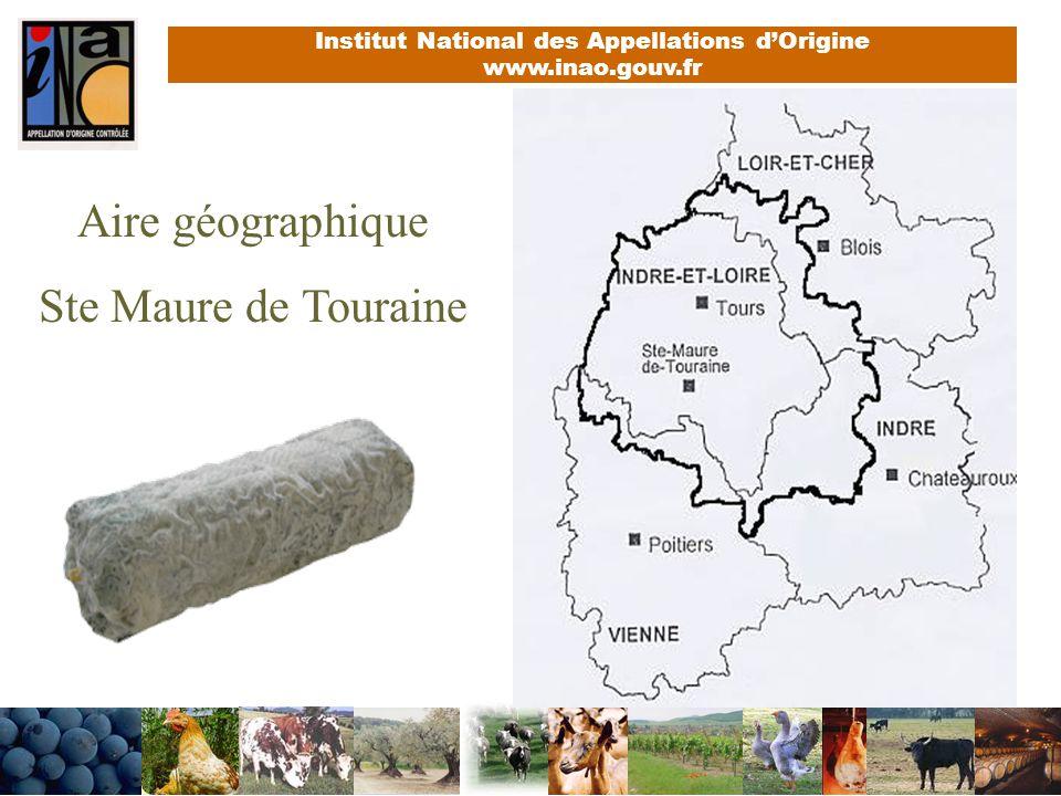 Aire géographique Ste Maure de Touraine