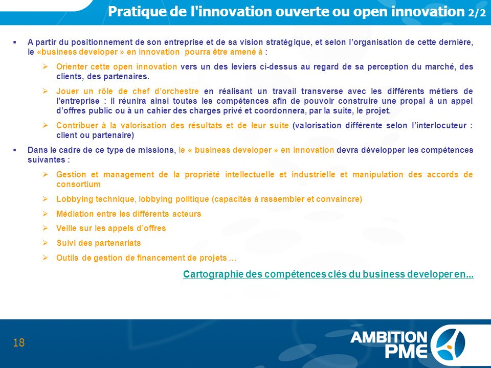 Pratique de l innovation ouverte ou open innovation 2/2