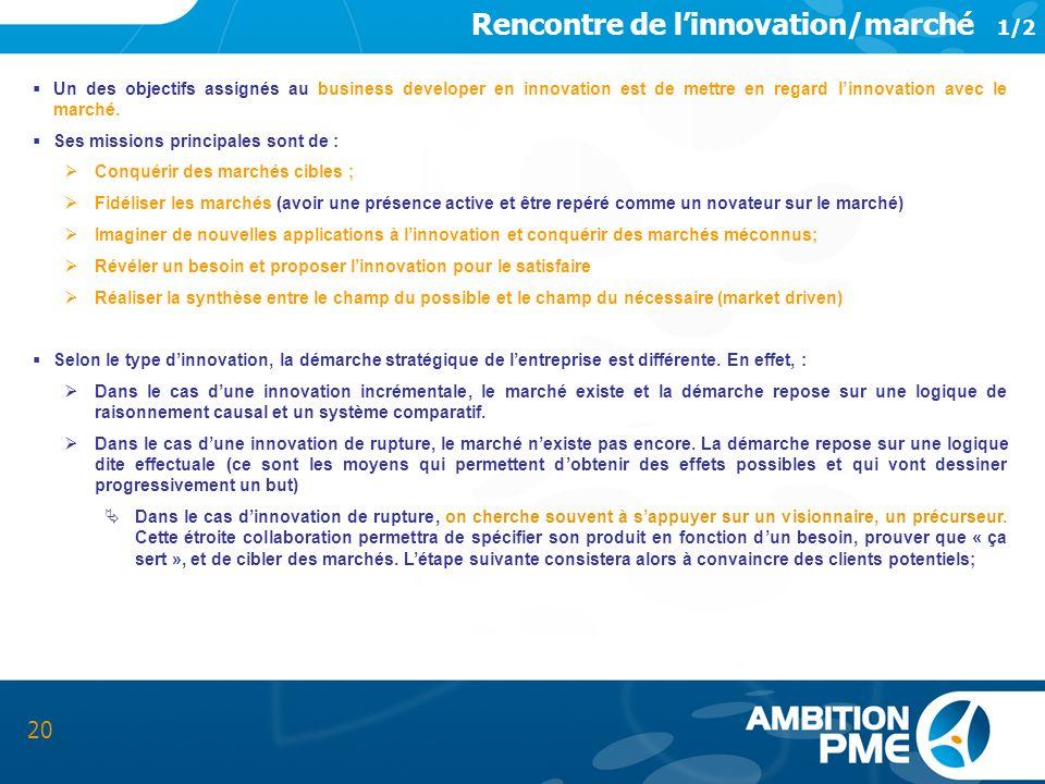 Rencontre de l'innovation/marché 1/2