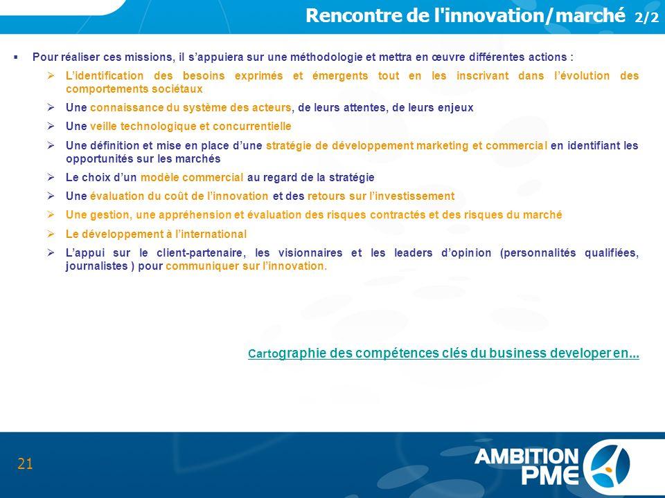 Rencontre de l innovation/marché 2/2