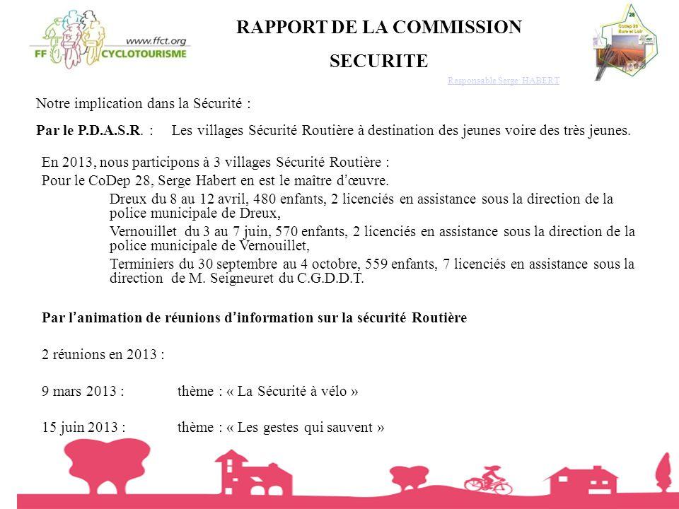 RAPPORT DE LA COMMISSION