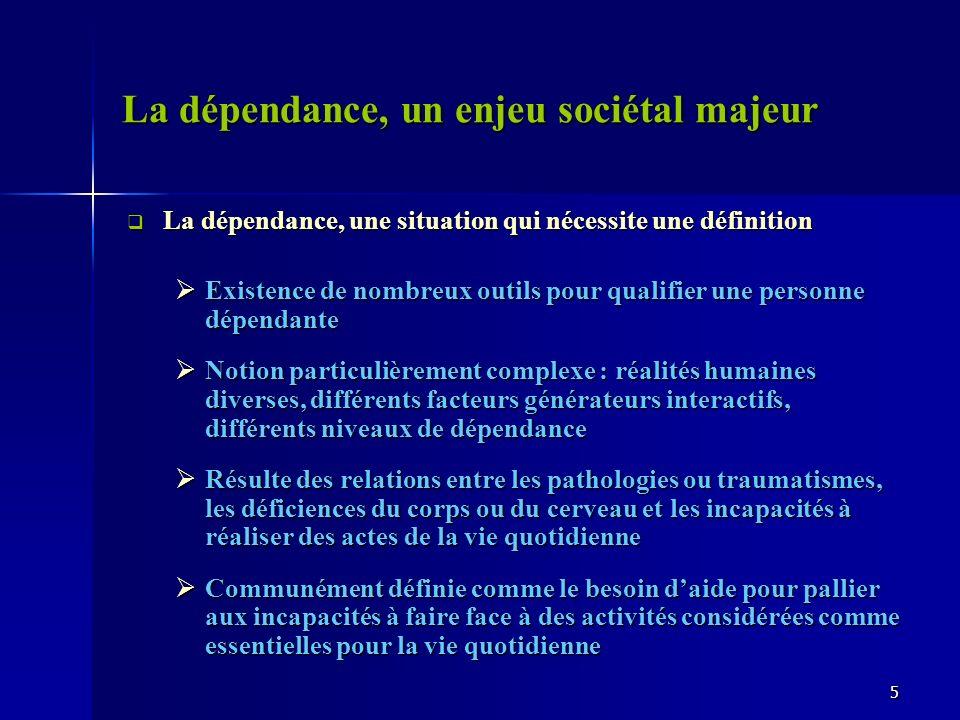 La dépendance, un enjeu sociétal majeur