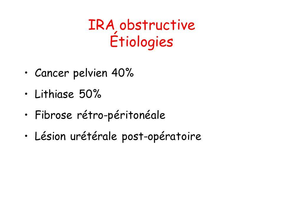 IRA obstructive Étiologies