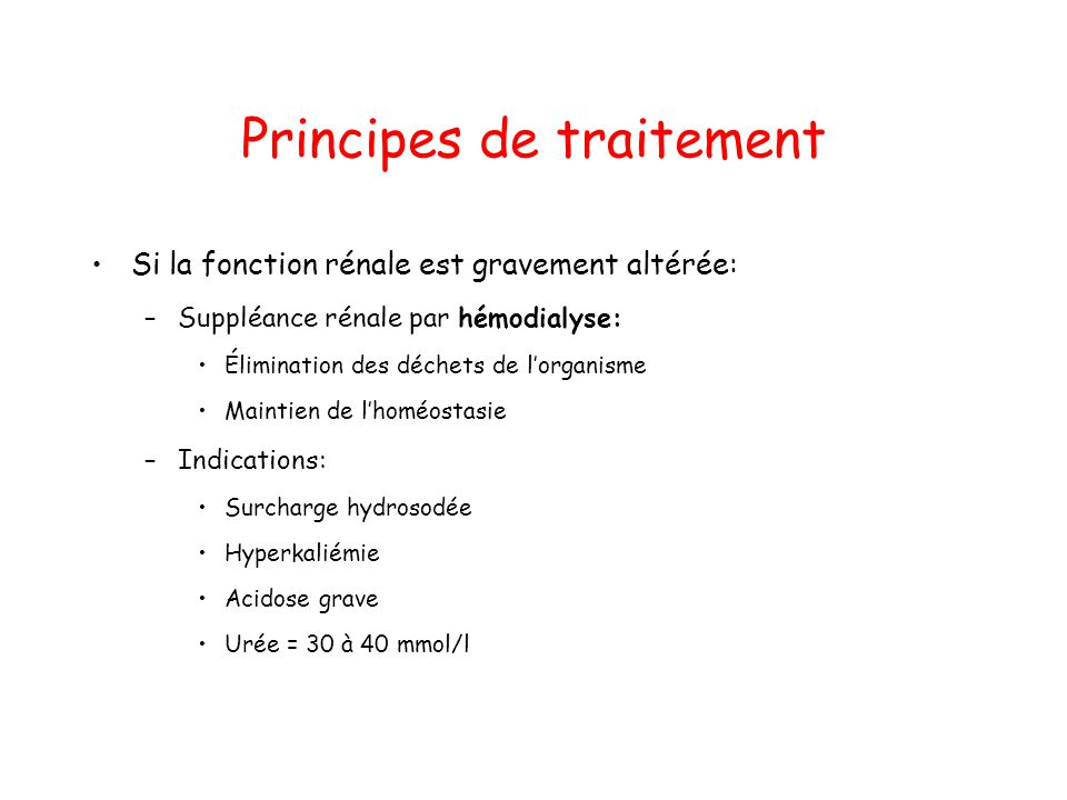 Principes de traitement
