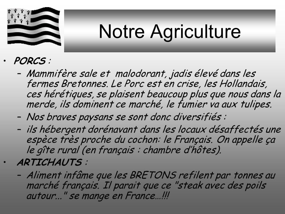 Notre Agriculture PORCS :