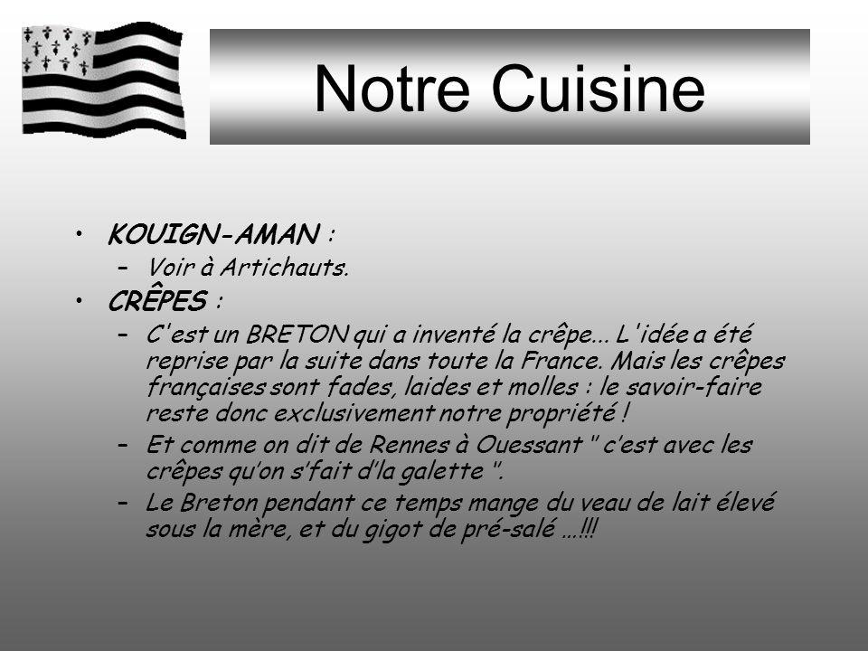 Notre Cuisine KOUIGN-AMAN : CRÊPES : Voir à Artichauts.