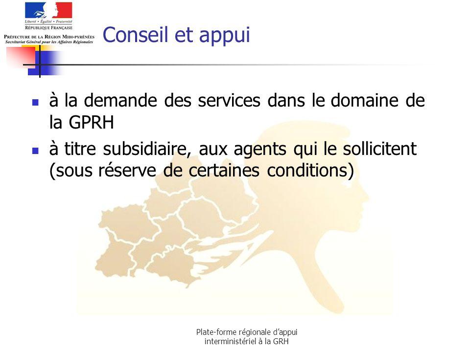 Plate-forme régionale d'appui interministériel à la GRH