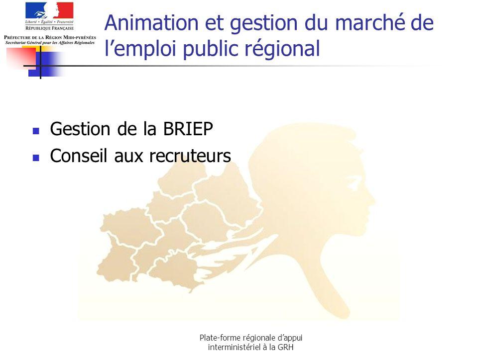 Animation et gestion du marché de l'emploi public régional