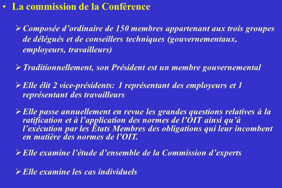 La commission de la Conférence