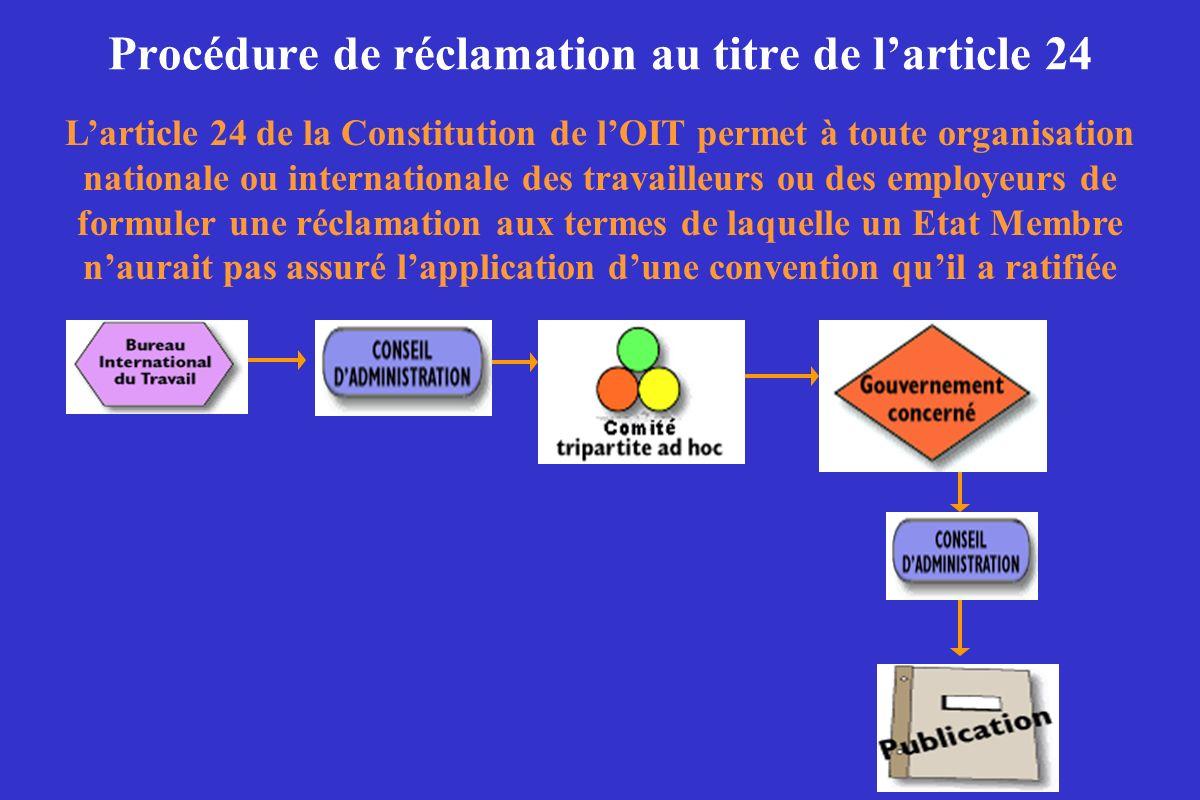 Procédure de réclamation au titre de l'article 24