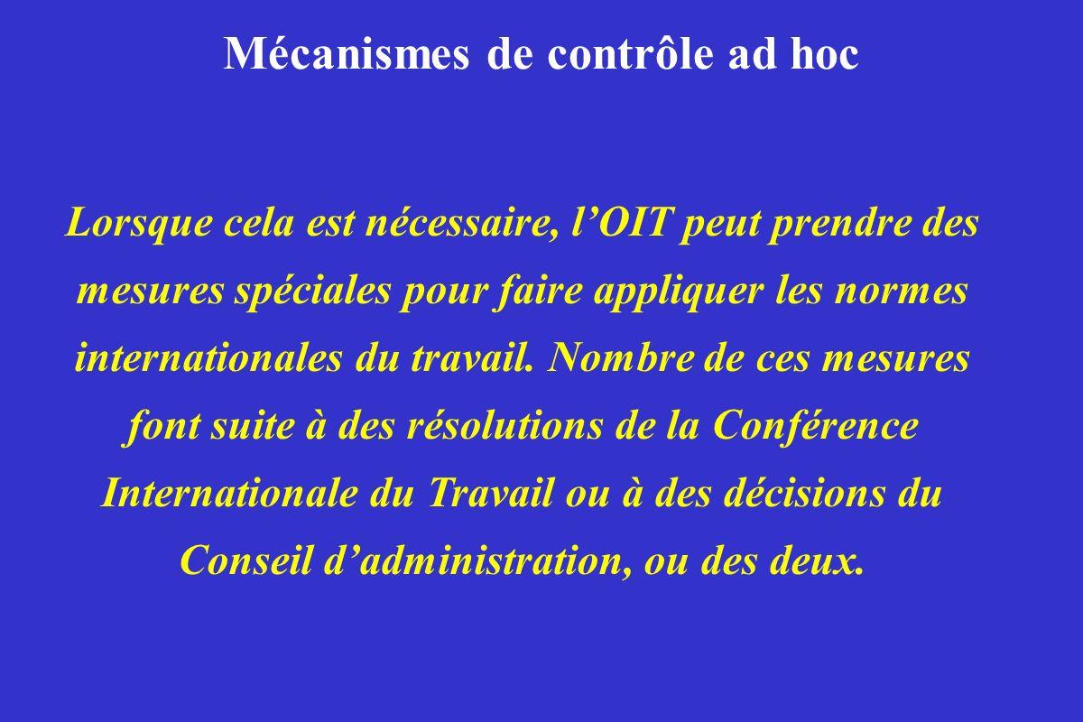 Mécanismes de contrôle ad hoc