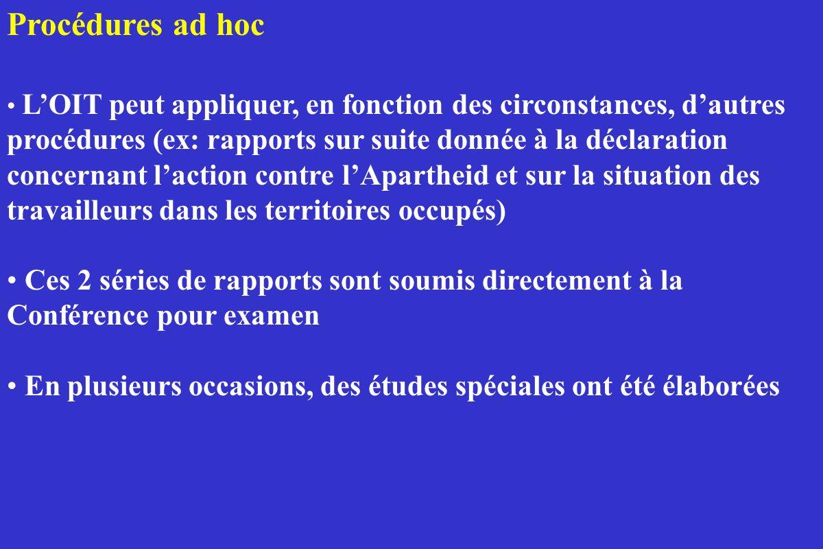 Procédures ad hoc