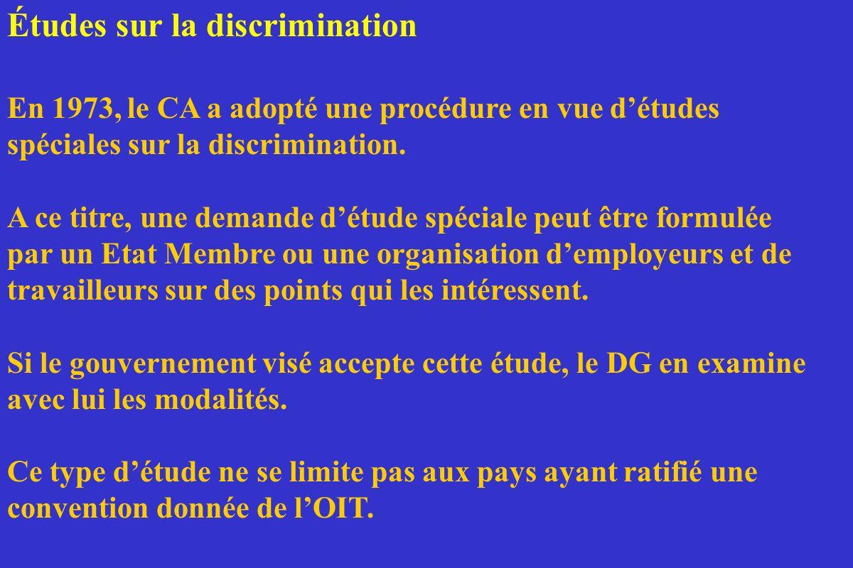 Études sur la discrimination