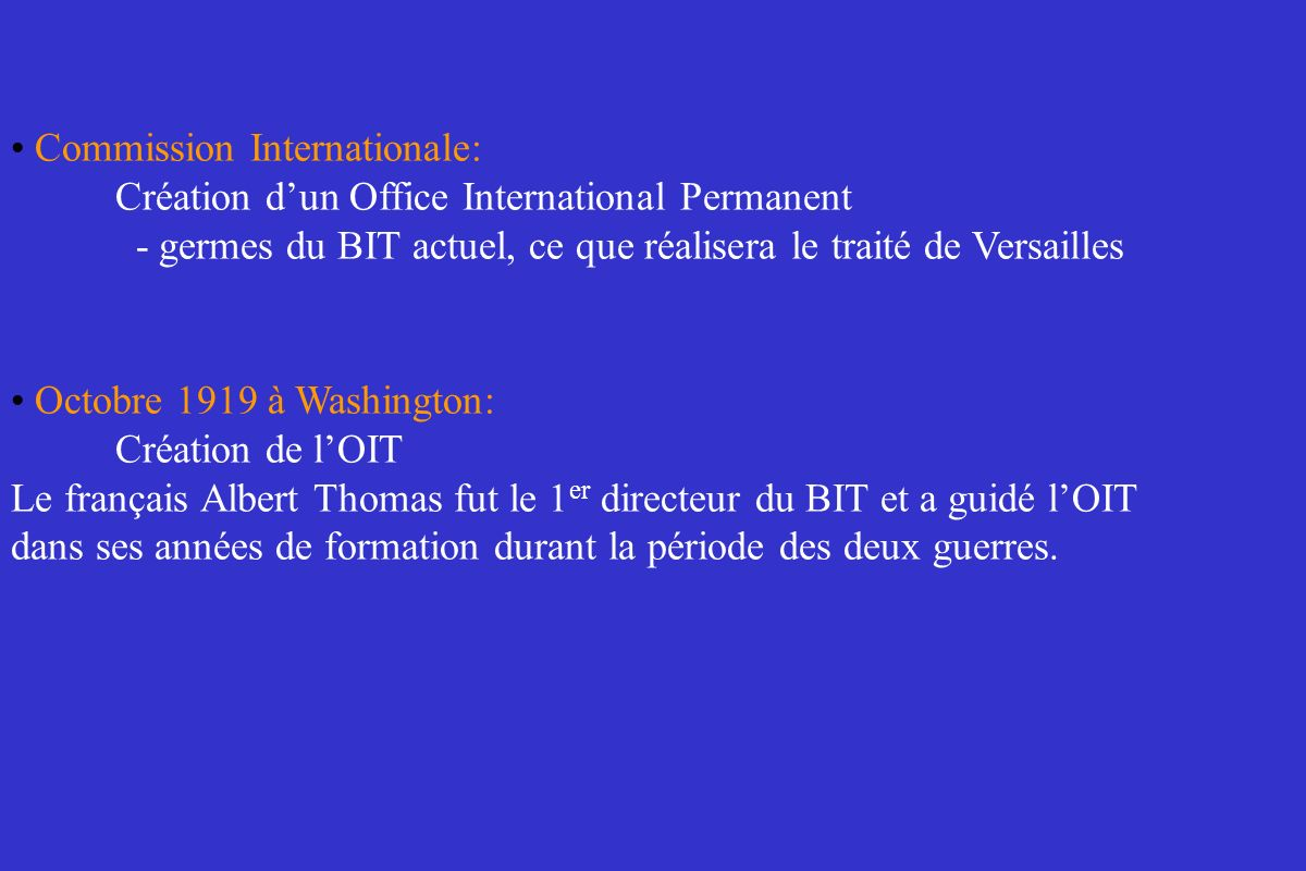 Commission Internationale: