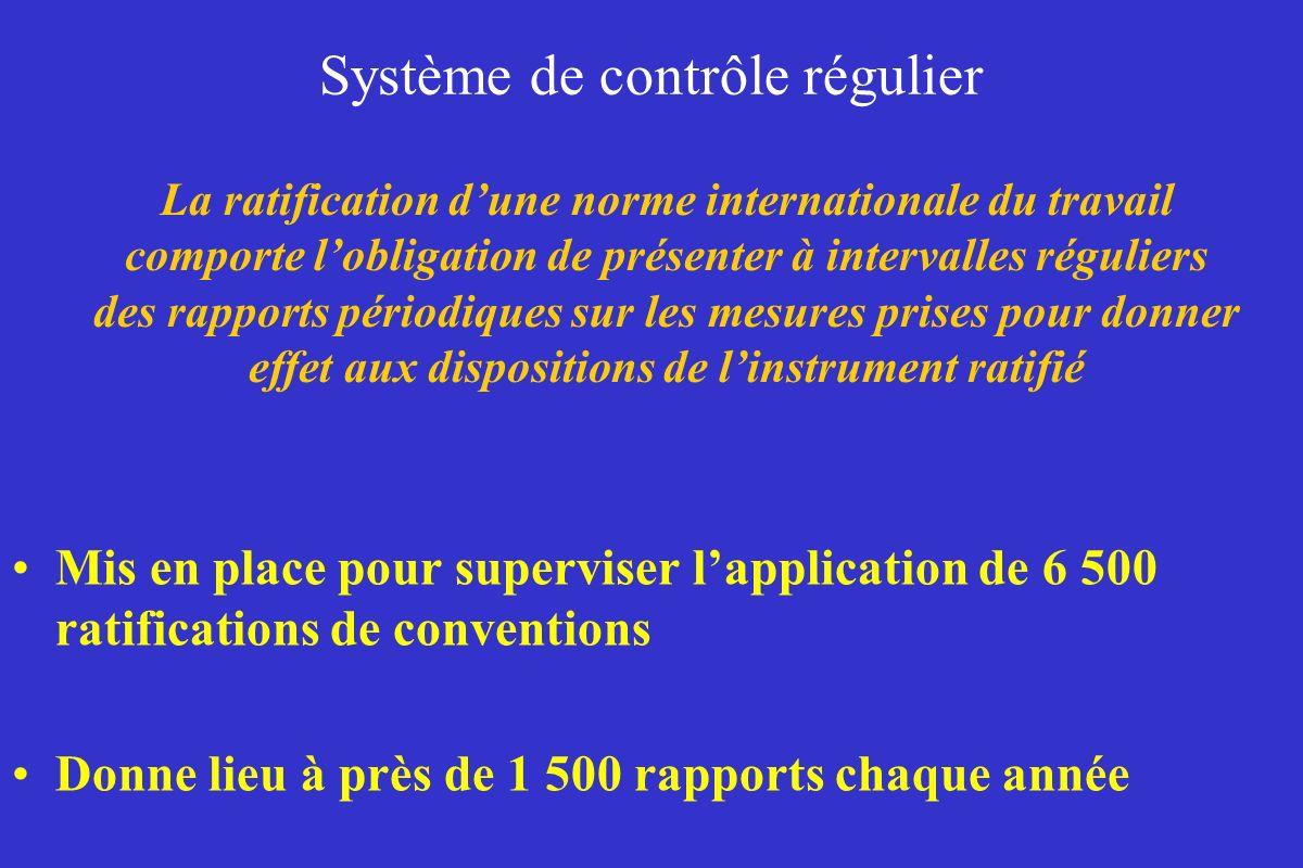 Système de contrôle régulier