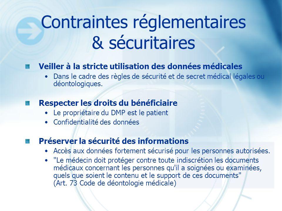 Contraintes réglementaires & sécuritaires